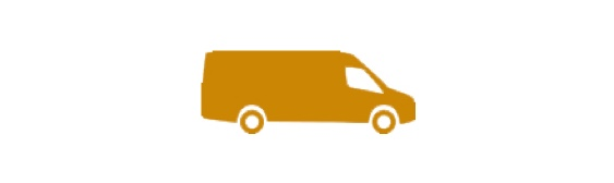 Orange van icon.